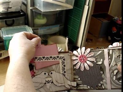 Black & White & Pink Mini Album Handmade January 2012 SOLD.wmv