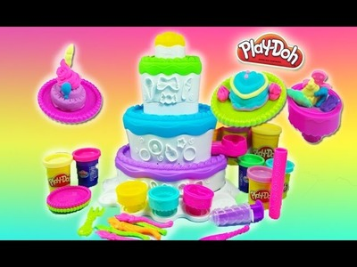 Cake mountain play doh toy playset Sweet Shoppe  unboxing play doh videos playdough