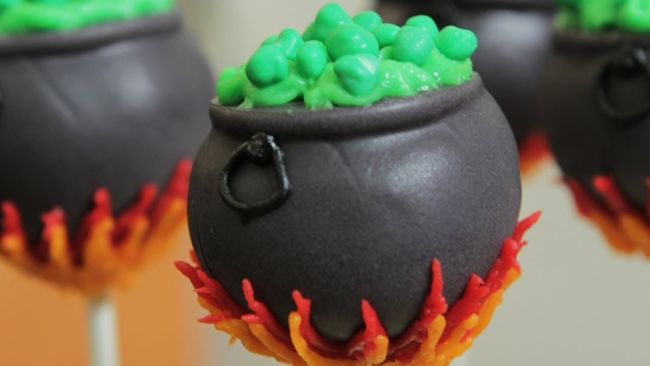 CAULDRON CAKE POPS - NERDY NUMMIES