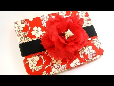 Chic Gift Wrapping with Beautiful Paper Flower