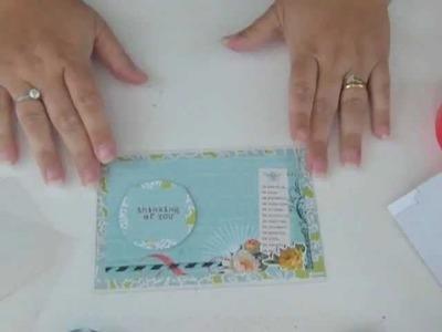 Clear Scraps Send It Clear Card Tutorial