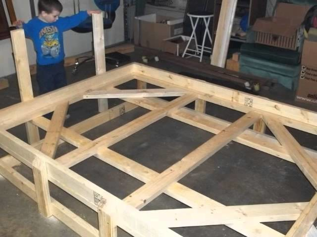 Custom Bed Frame from 2x4's