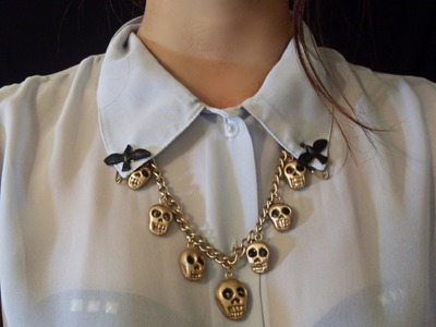 DIY collar calaveras