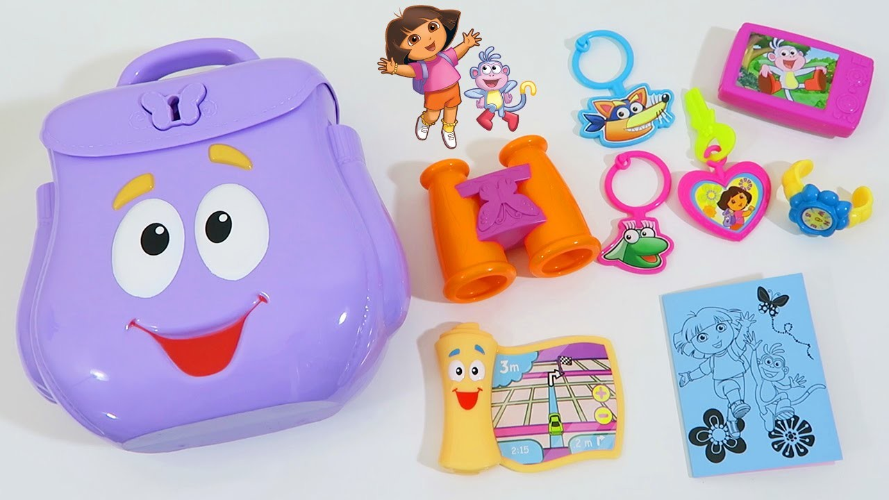 Dora the Explorer - Explorer's Backpack Playset Adventure Time with Maps, Boots, and Swiper!