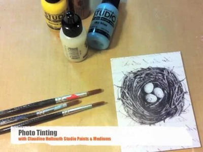 Easy photo tinting with acrylic paints