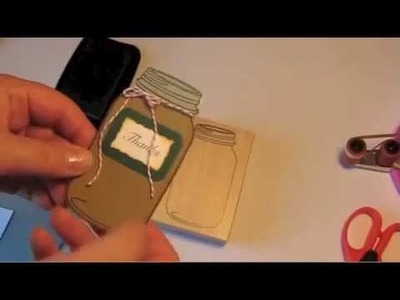 For Vivian - How I use my Mason Jar Stamp & Make a Paper Bag Card