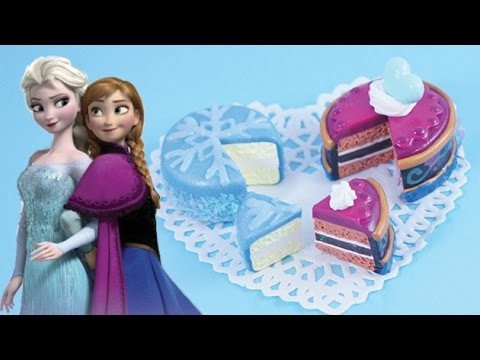 Frozen Sweets Collab: Anna and Elsa Cakes [Polymer Clay]