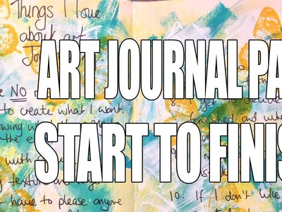 How to: Art Journal Page - Lists