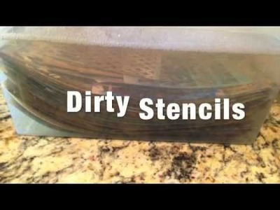 How To Clean Your Stencils