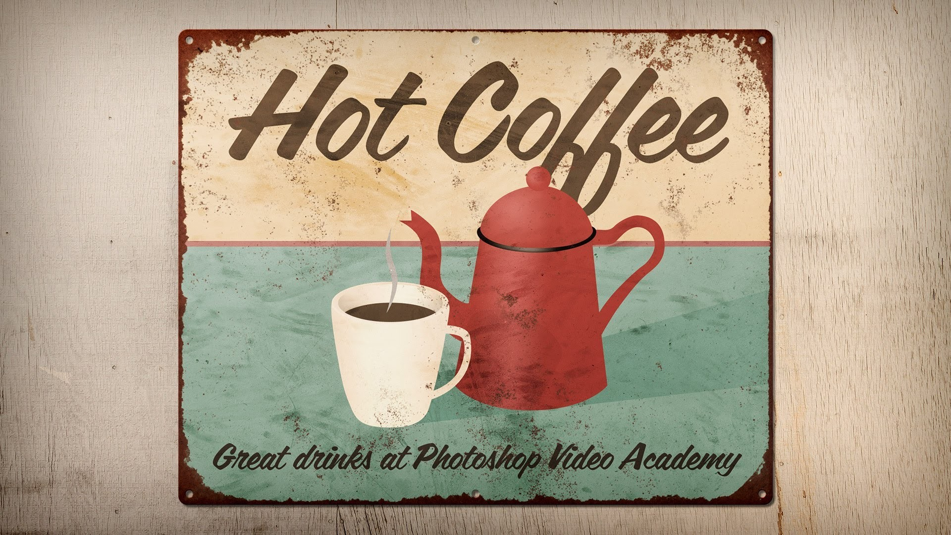 How to Create a Rusty, Vintage Tin Sign in Photoshop