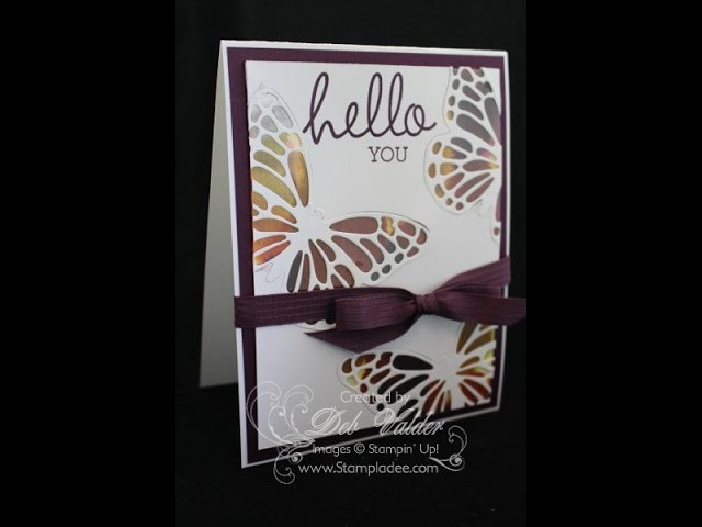 How to Create a Tie Dye Window Card with Deb Valder