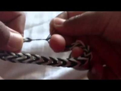 How to end a rainbow loom bracelet without a clip!!!!