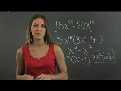 How to Factor a Polynomial With Large Exponents : Lessons in Math