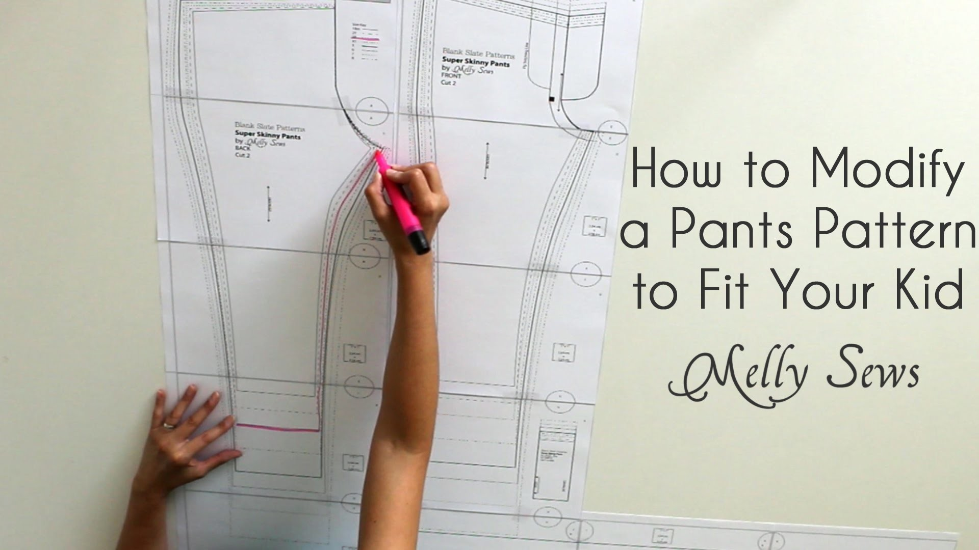 How to Fit a Pants Pattern for Kids