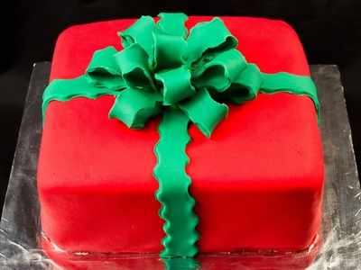 How to make a Fondant Bow and Fondant Gift Cake