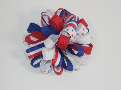 How To Make a Loopy Ribbon Puff Boutique Hair Bow