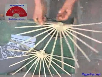 How to make a Paper Fan by hands (Tutorial)