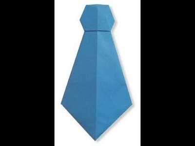 How To Make A Paper Neck-tie (HD)