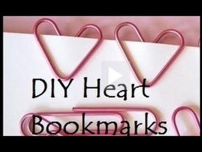 ♥ How to make a Paperclip Heart Bookmark or Heart Paperclip ( • ◡ • )