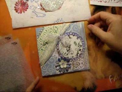 How to make a romantic-card card day bookcards boekkaarten kaarten Jehovah