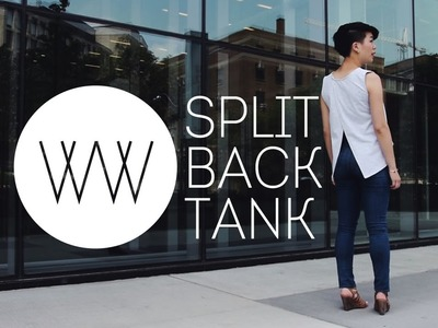 How to Make a Split Back Tank