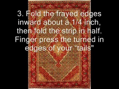 How to make braided rugs from rags.wmv