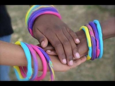 How to make polymer clay bangle bracelets for little girls! | Nik Scott