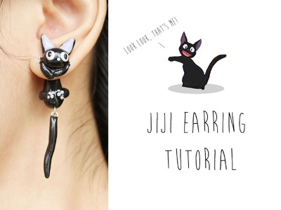 Jiji Cat Polymer Clay Earrings (Kiki's Delivery Service) Tutorial