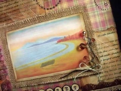My Autumn Sunset layout And A Poem