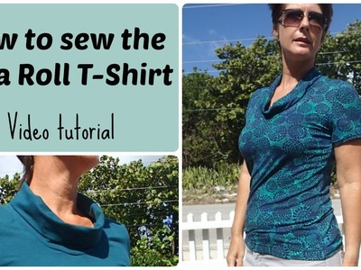 On a Roll T Shirt sewing tutorial