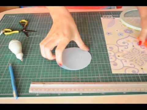 PAP - Cartão Artesanal - Utilizando cortador circular