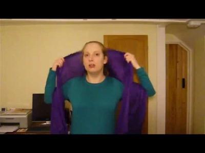 Pashmina Scarf Tutorial (two coloured scarfs)