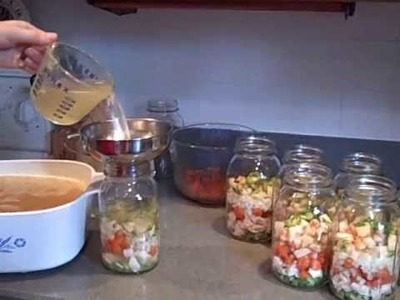 Pressure Canning Chicken or Turkey Vegetable Soup