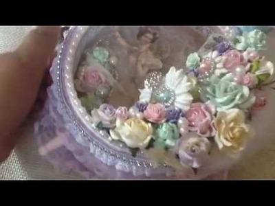 Prima Fairy Belle Altered Shabby Chic Clock