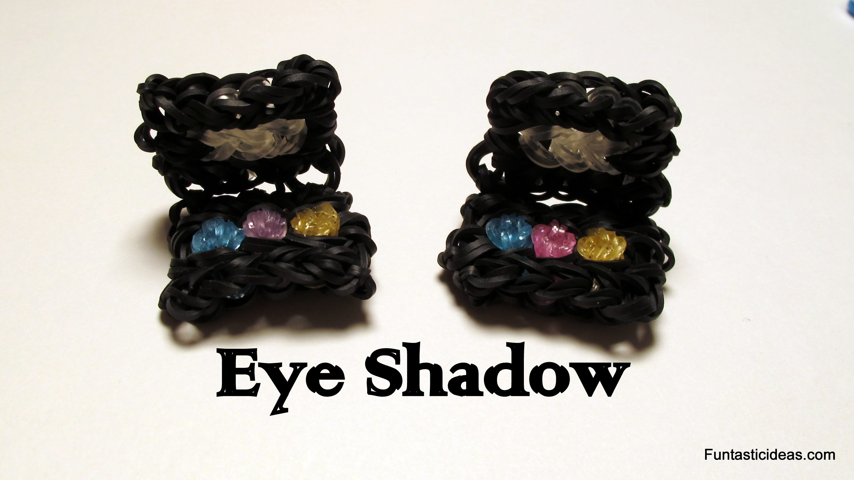 Rainbow Loom Makeup Palette.Eye Shadow Charm- How to - Make Up Series