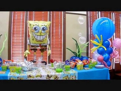 Spongebob Theme Birthday Party Decor.wmv