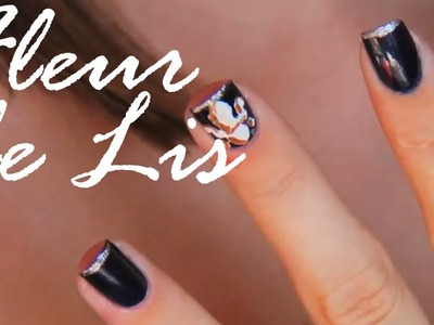 3 Musketeers Inspired Fleur De Lis (Nail Polish Art Tutorial)
