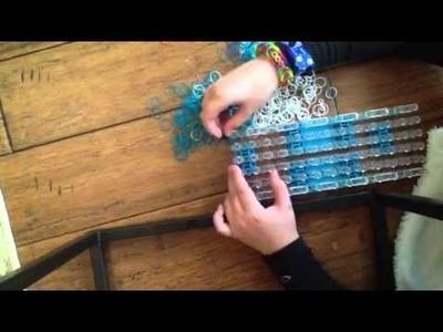 6 row single rainbow loom bracelet