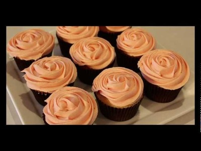 #9 Rose Cupcakes - How to Pipe Buttercream Roses: the Easy Technique by 22do