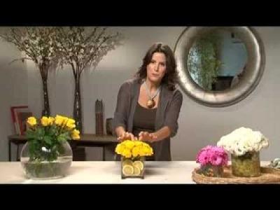 Centerpeice Ideas:  Fruit & Flower Designs with Iris Rosin -TV show- Eisuv+