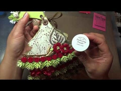 Christmas Tree Mini Album Ornament