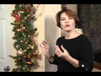 Decorating Tips:  How to Decorate a Garland Simply and Easily at Holidays or Year Around