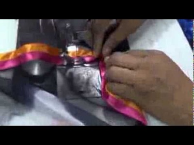 Designer Saree Lace Making-How To Make Designer Saree Blouse(Choli).Sewing Stitching