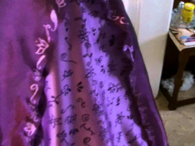 Disney Rapunzel costume Tutorial Part 5 Skirt part 2