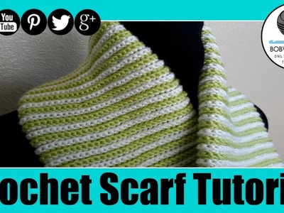 Double Ribbed Spiral Scarf Tutorial