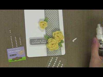 Felt Rose Card