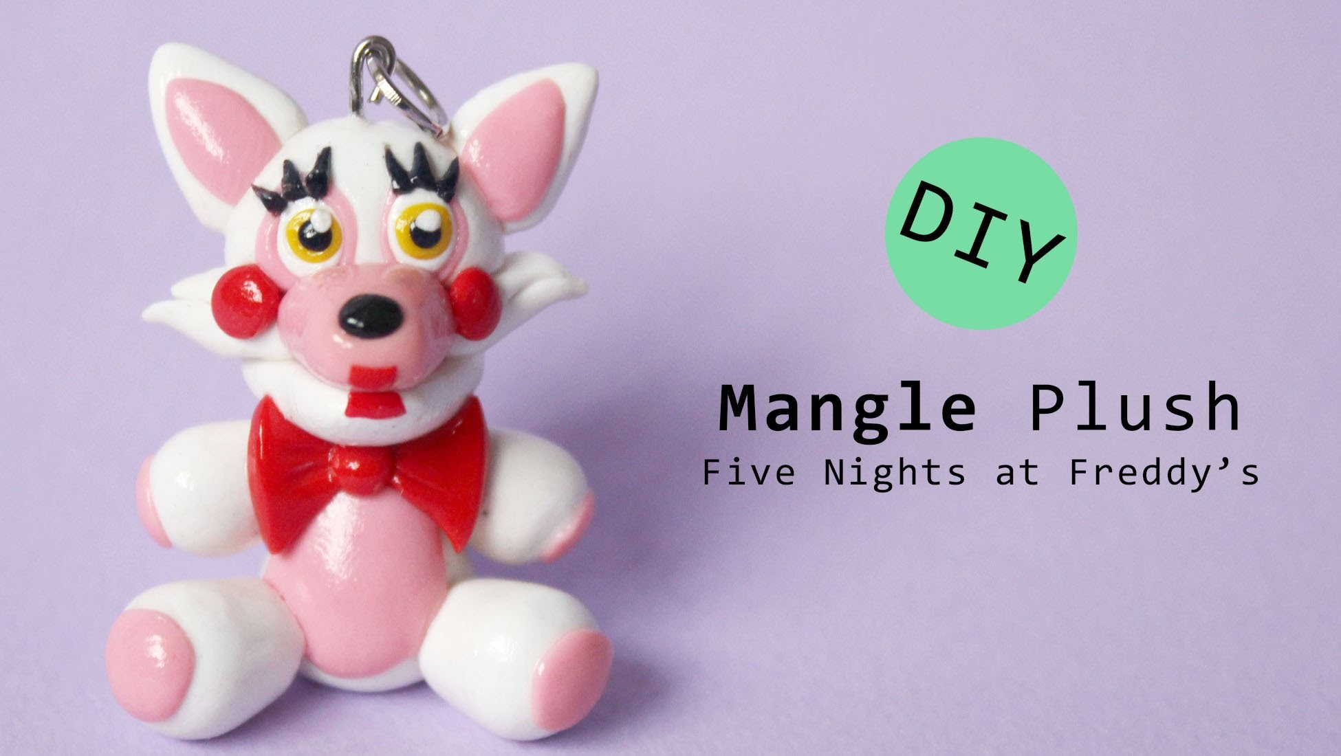Five Nights at Freddy's 2 Mangle Plush Version Polymer Clay Tutorial