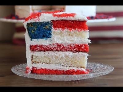 Flag Cake Recipe - How to Make American Flag Cake