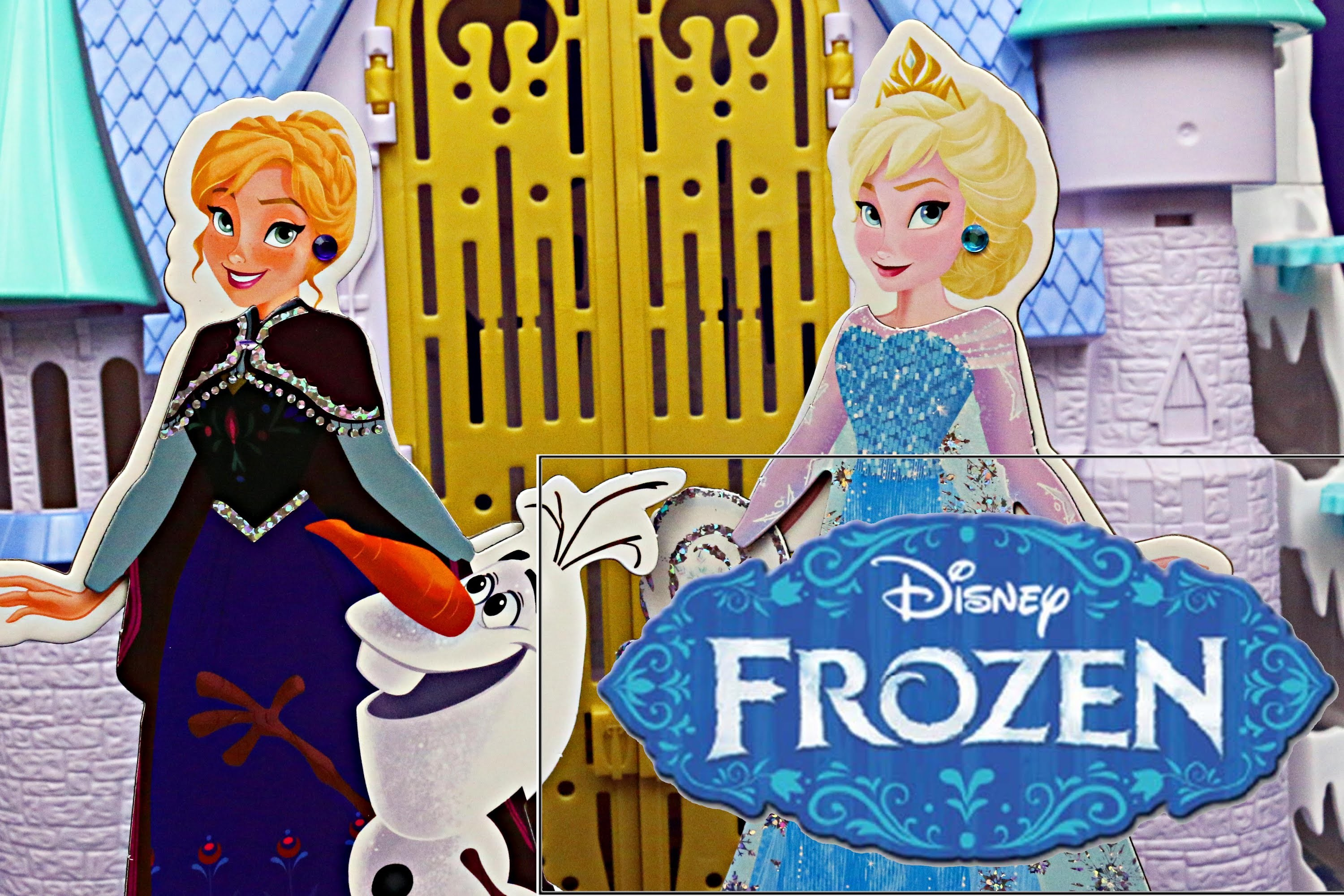 Frozen Elsa and Disney Frozen Anna Magnet Paper Dolls and Snowman Olaf Toy Review