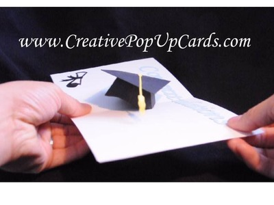 Graduation Pop Up Card: 3D Cap